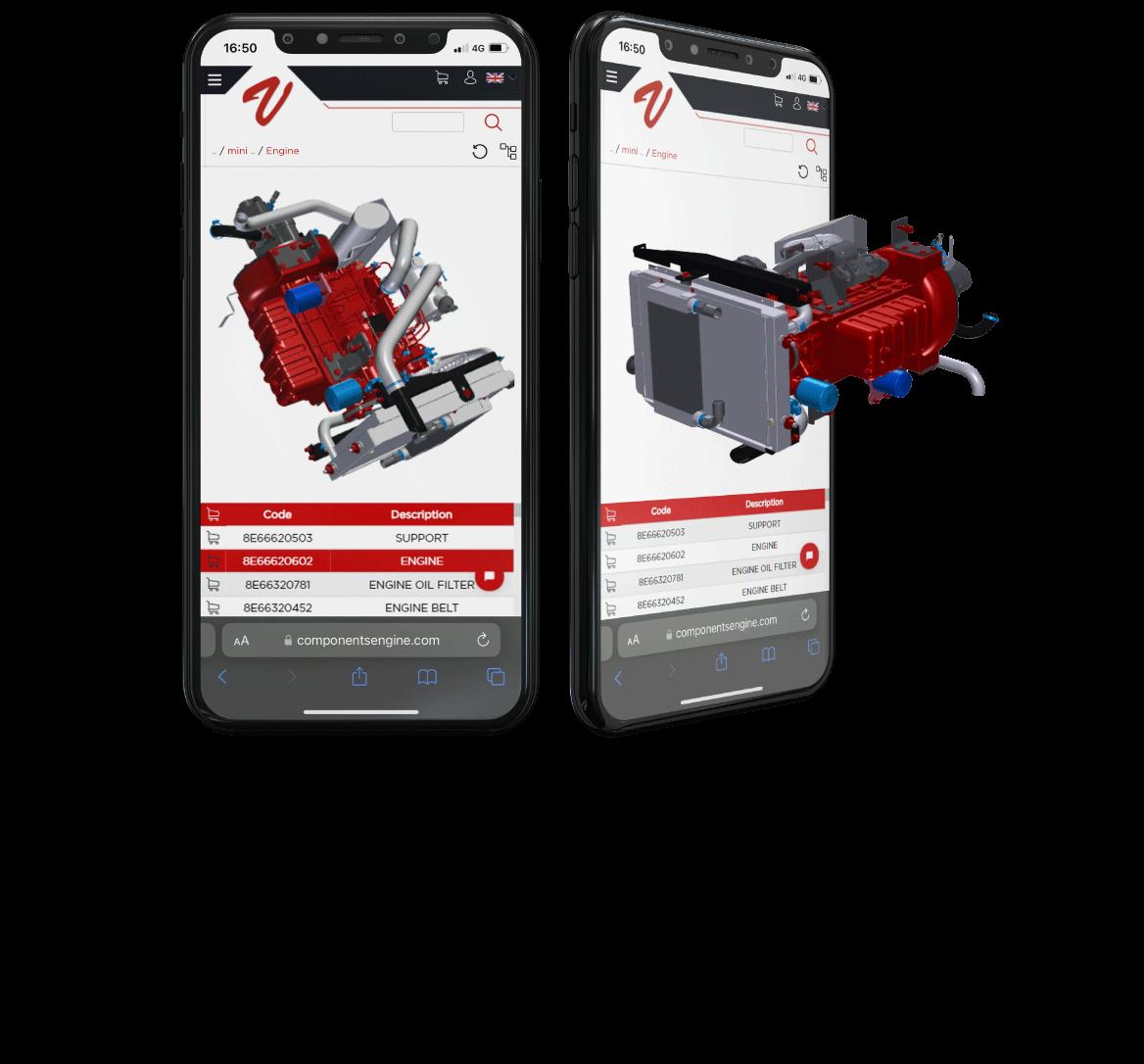 Digital parts catalogs software